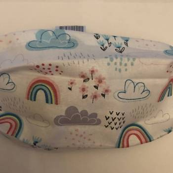 Rainbow and Clouds Cotton Face Mask