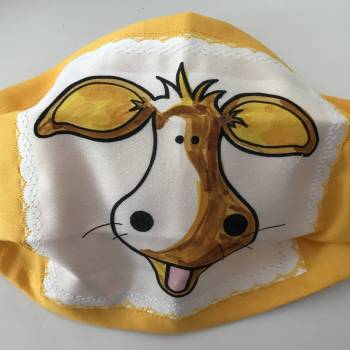 Single Mad Cow Face Mask