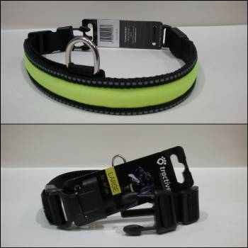 Tractive Battery LED Dog Collar Size Large 50-60cm - Dayglo Yellow