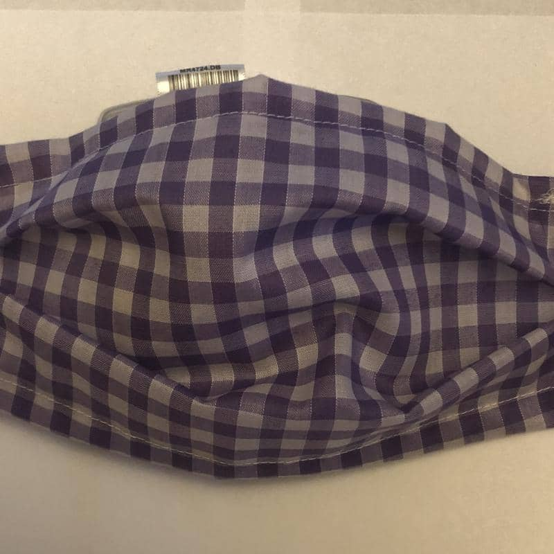 Purple Gingham Cotton face mask