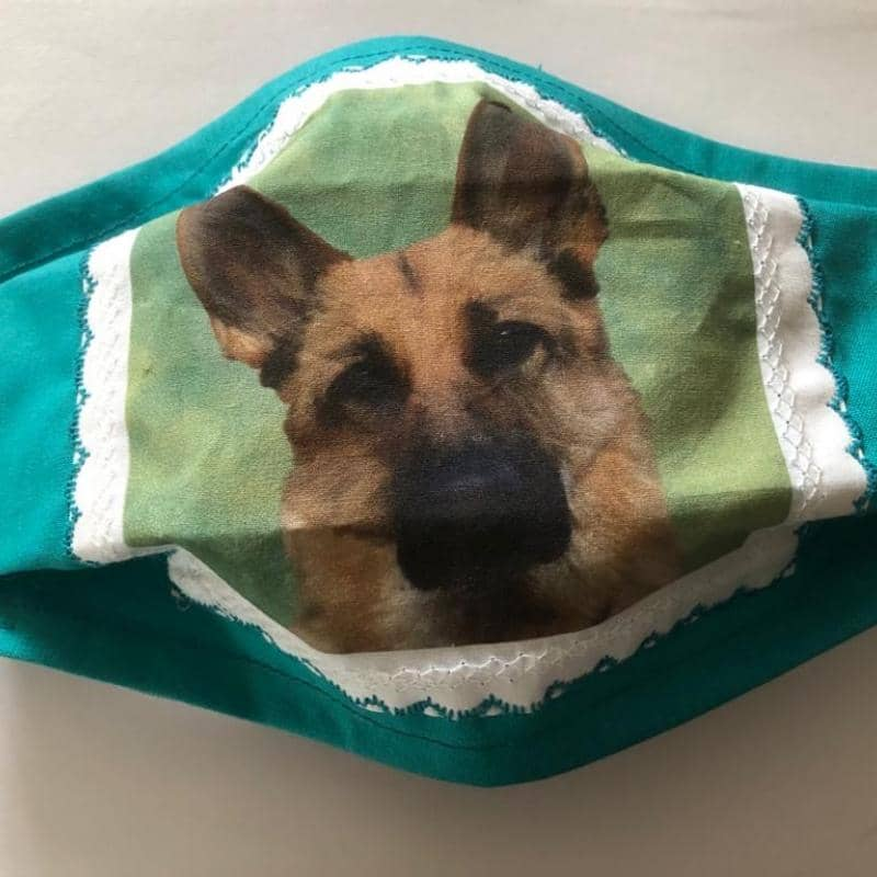 German Shepherd Design Face Mask