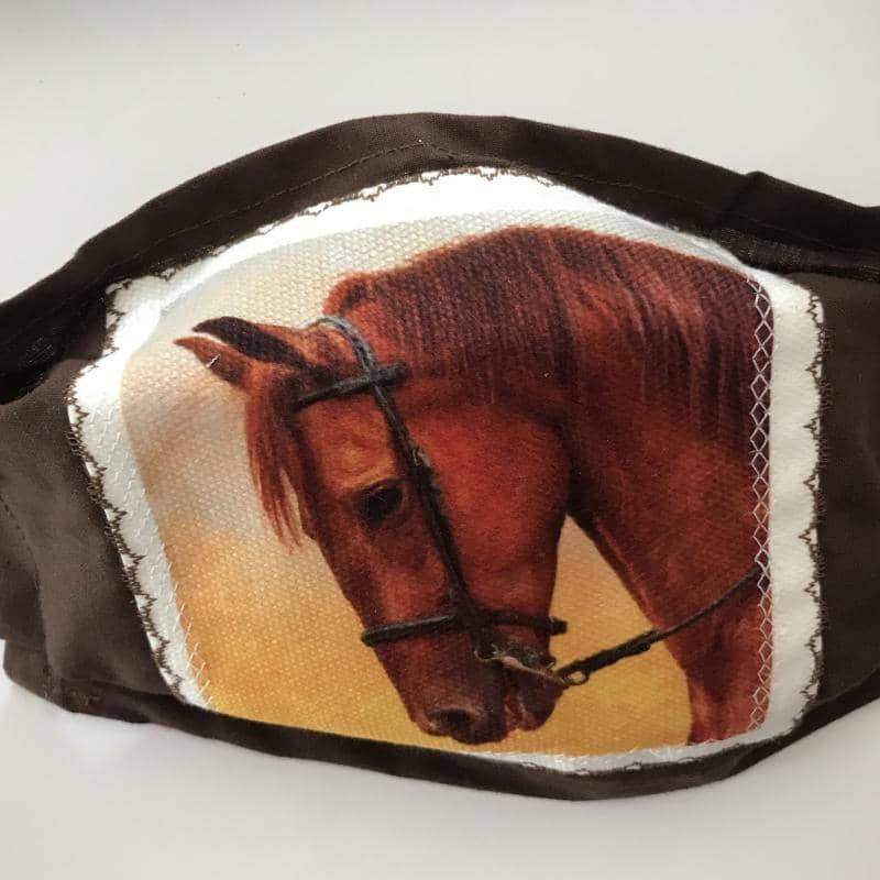 Single Horse Head Face Mask